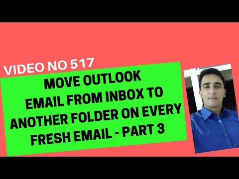 Learn Excel Video 517 - VBA - Move fresh email in sub folder automatically