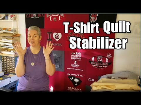 T-Shirt Quilt Prep - Stabilizing Your T-Shirts