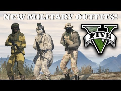 GTA V - New Top Military Outfits | SEAL Team 6  & Russian Spetsnaz | Custom Doomsday Heist Outfits!