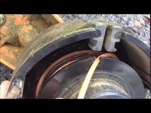 How to load string in a stihl string trimmer/ Stihl fs 56 RC-E