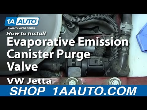 How To Install Replace Evaporative Emission Canister Purge Valve VW Jetta