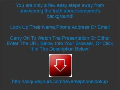 Reverse Phone Lookup - Reverse Cell Phone Number Lookup