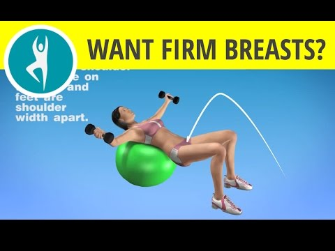 Exercise for Firm Breasts: Chest Workout for Women -- with Dumbbells (Weights) on a Fitness Ball