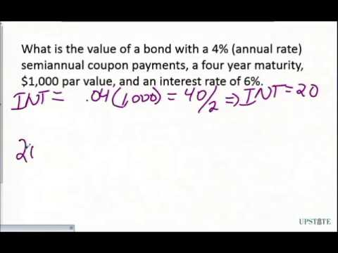 Q.Bond Valuation: Semiannual Coupon 1
