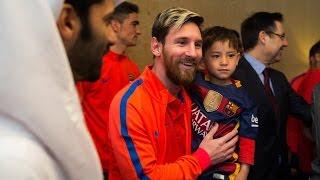 Afghan boy Murtaza Ahmadi joins FC Barcelona in Doha