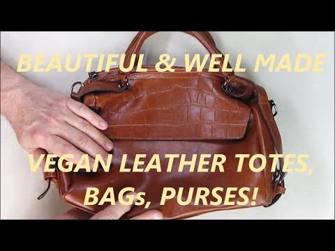 DALFR PU Vegan Leather Top Handle Tan Tote Purse Bag For Women