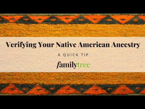 Tip for Researching Native American Ancestry