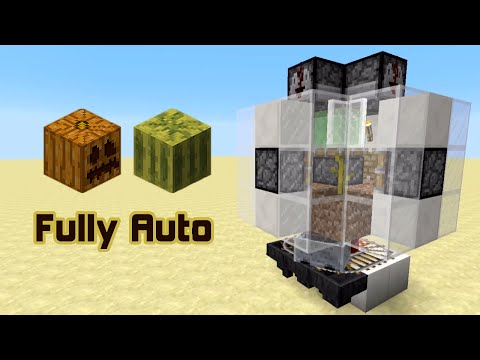 Fully automatic Pumpkin and Melon farm (Tutorial for minecraft 1.8.3)