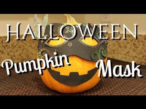 How To Make Halloween Pumpkin Mask with Target Pumpkin Decorating Kit (Jack-O'-Lantern DIY)