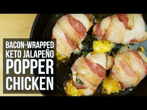 Bacon-Wrapped Keto Jalapeno Popper Chicken | Easy Low Carb Chicken Dinner Recipe by Forkly