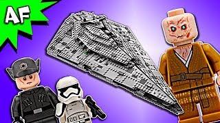 Lego Star Wars 8: Last Jedi First Order STAR DESTROYER 75190 Speed Build