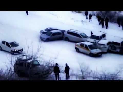 New 2013! Russian Snow Car Crashes!!