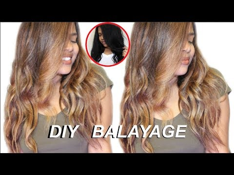 How To: DIY Easy & Cheap Balayage Highlights On Dark/Black Hair