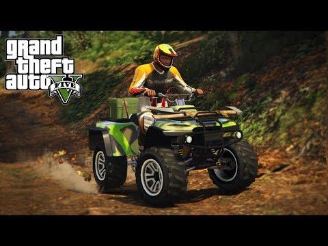 4x4 TRAIL RIDING ON A BLAZER RECON ATV! (GTA 5 PC Mods)