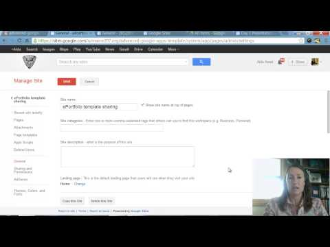 Changing ownership of a Google Site between 2 domains & Making a Google Site template