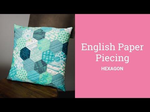 English Paper Piecing Hexagons Tutorial