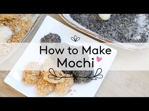 How to Make Mochi ♥ Honey Roasted Peanut & Black Sesame