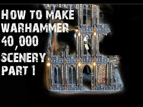 How to make Warhammer 40k scenery part 1