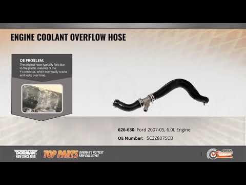 Engine Coolant Overflow Hose