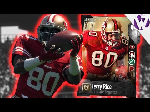 ULTIMATE LEGEND JERRY RICE! - Madden 18 Gameplay