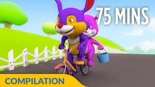 If You Are Happy - Non Stop I 3D Nursery Rhymes for Kids and Children I 75 Mins Baby Songs