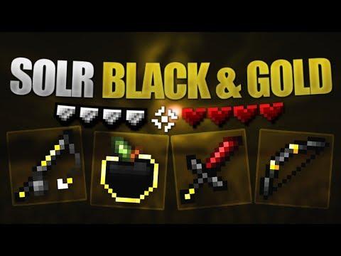Solr Black & Gold Revamp 16x - Minecraft PE (Bedrock Edition) [Showcase Sunday]
