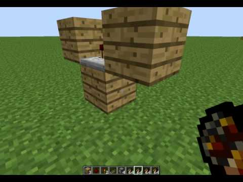 minecraft 1.2.5 how to make a flamethrower (easy)