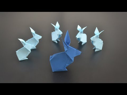 Origami: Simple Rabbit / Bunny - Instructions in English (BR)