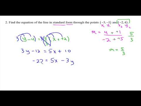 Finding equations of lines in various forms
