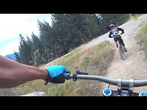 Linking  a few Blue Tech trails in  Whistler Bike Park