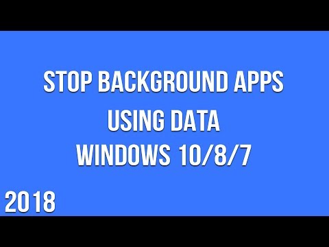 How to Stop Background Apps Using Data on Windows 10/8/7 (2018)