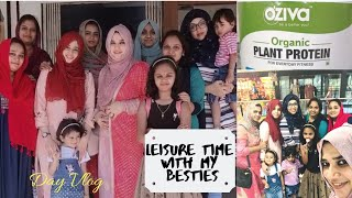 Day Vlog I leisure time with my besties I  Peas - Aloo paratta I Oziva organic Plant Protein Review