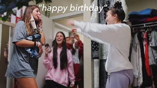 surprising my sister on her 18th birthday