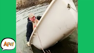 Yeah, That Was NEVER Gonna Float! 😅 | Best Funny Fails | AFV 2021