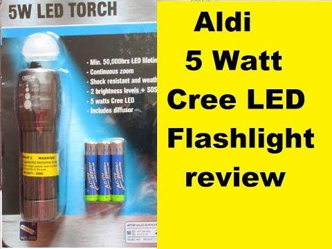 Aldi  5watt Cree LED Torch