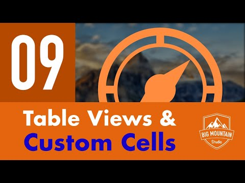 Table Views & Custom Cells - Part 9 - Itinerary App (iOS, Xcode 9, Swift 4)