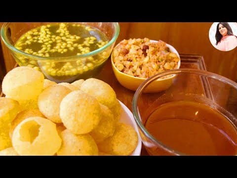 Pani Puri recipe, Golgappa Recipe with Teekha Pani, Sweet Chutney and Stuffing, puchka recipe