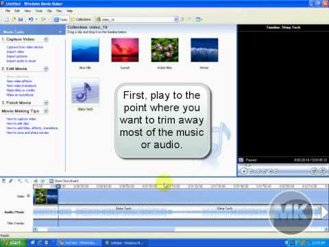 Windows XP Movie Maker - Add Music to your movie