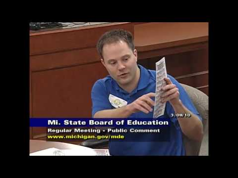 Michigan State Board of Education Meeting for March 9, 2010 - Session Part 3