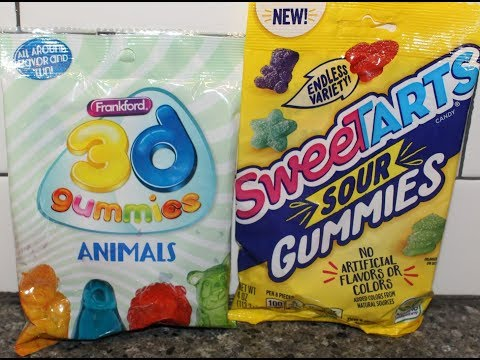 Frankford 3D Gummies Animals and SweeTarts Sour Gummies Review