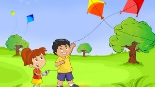 How To Draw Scenery Of Kite Flying Step By Step
