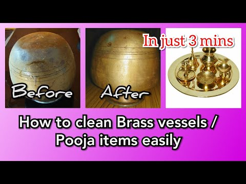 How to clean Brass vessels and Pooja items easily at home in just 3 mins