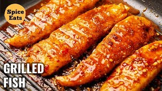GRILLED FISH | SPICY GRILLED FISH | PAN GRILLED FISH | GRILL FISH RECIPE