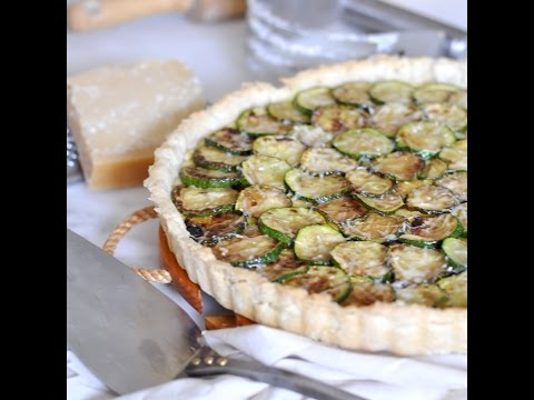 How to Make from Scratch a Savory Zucchini-Mascarpone Cheese Tart by Cooking with Manuela