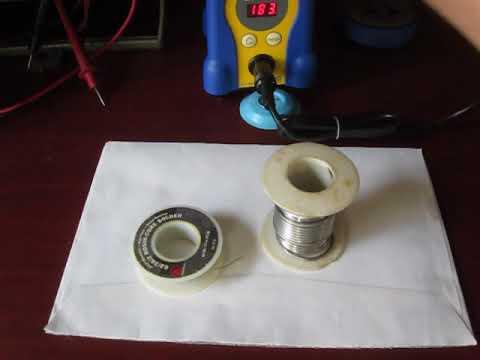 Tinning a new Soldering Iron Tip for HAKKO FX-888D