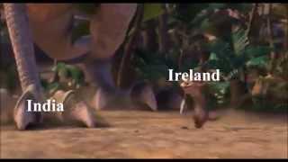 India vs Ireland Movie Mashup (Ice Age 3)