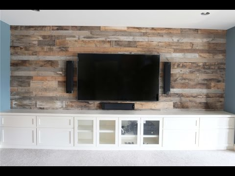 Reclaimed Barn Wood Wall Installation