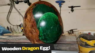 Turning A Dirty Old Log To A Dragon Egg! | Resin Art