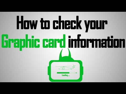 How To Check Computer Graphic Card
