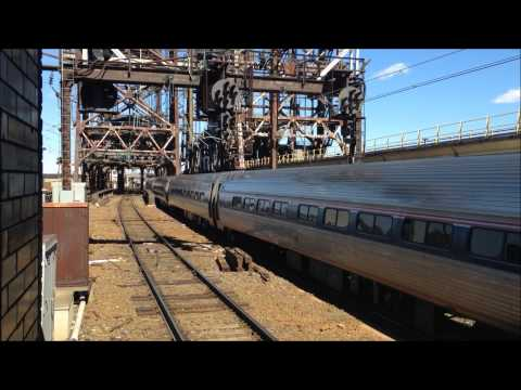 Amtrak and New Jersey Transit Trains at Newark Penn Station